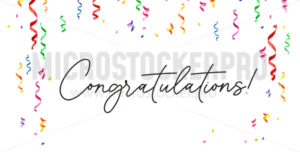 Congratulations festive banner on white background - Vector illustrations for everyone | Microstocker.Pro