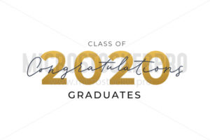 Congratulations graduates card with numbers - Vector illustrations for everyone | Microstocker.Pro