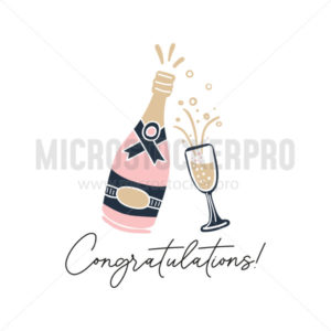 Congratulations hand drawn greeting card - Vector illustrations for everyone | Microstocker.Pro