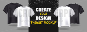 Creating fashion t-shirt banner mockup template - Vector illustrations for everyone | Microstocker.Pro
