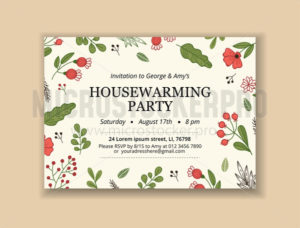 Creative template with invitation text and blossom design - Vector illustrations for everyone   Microstocker.Pro