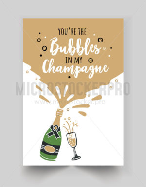 Cute greeting card with handwritten lettering - Vector illustrations for everyone | Microstocker.Pro