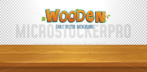 Empty wooden table with transparent background - Vector illustrations for everyone | Microstocker.Pro