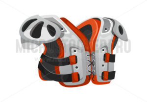 Football equipment shoulder pads for protection - Vector illustrations for everyone | Microstocker.Pro