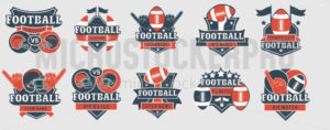 Football logos and prints template collection - Vector illustrations for everyone | Microstocker.Pro