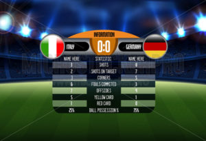 Football match results between italy and germany - Vector illustrations for everyone | Microstocker.Pro