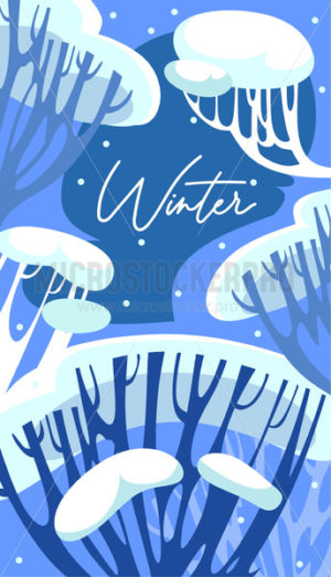 Frost winter seasonal background with lettering - Vector illustrations for everyone | Microstocker.Pro