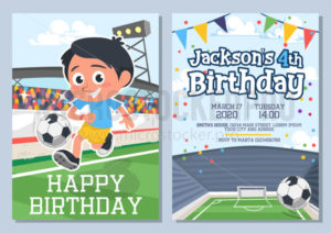 Happy birthday greeting card and invitation set - Vector illustrations for everyone | Microstocker.Pro