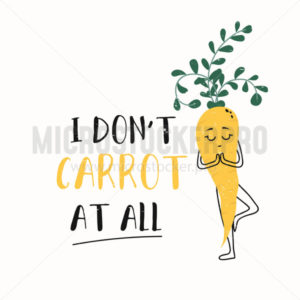 Inspirational cute card with carrot character - Vector illustrations for everyone | Microstocker.Pro
