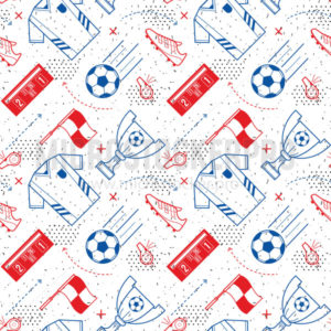 Linear soccer or football seamless pattern design - Vector illustrations for everyone | Microstocker.Pro