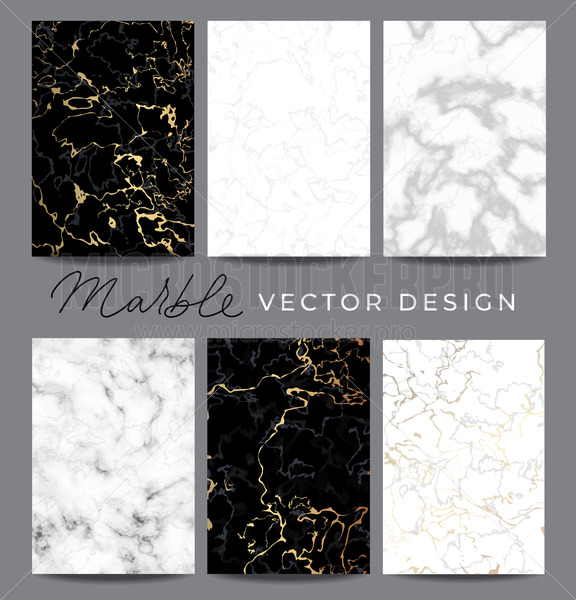 Marble vector design backgrounds collection - Vector illustrations for everyone | Microstocker.Pro