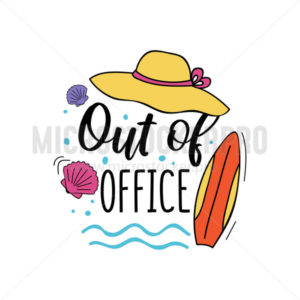 Out of office summer travel card or print - Vector illustrations for everyone | Microstocker.Pro