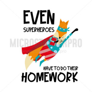 Poster with fox animal hero and lettering - Vector illustrations for everyone | Microstocker.Pro