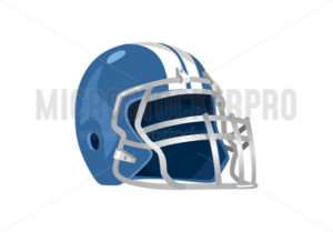 Professional footballer equipment helmet - Vector illustrations for everyone | Microstocker.Pro