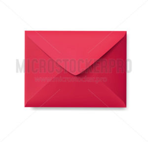 Realistic red envelope empty post letter cover - Vector illustrations for everyone | Microstocker.Pro