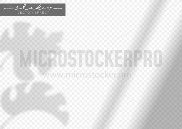 Realistic shadow effect of tropical leaf - Vector illustrations for everyone   Microstocker.Pro
