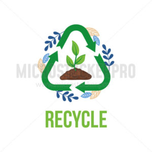 Recycle eco and plastic pollution problem - Vector illustrations for everyone | Microstocker.Pro