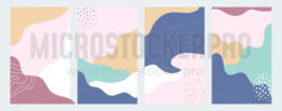 Set of abstract background for creative design