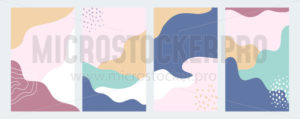 Set of abstract background for creative design - Vector illustrations for everyone | Microstocker.Pro