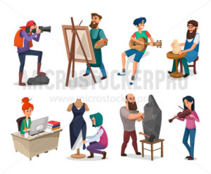 Set of creative people and interesting professions - Vector illustrations for everyone | Microstocker.Pro