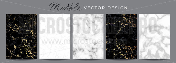 Set of marble vector design luxury backgrounds - Vector illustrations for everyone | Microstocker.Pro