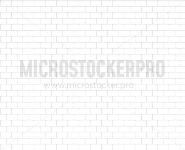 Simple white brickwall rustic blocks texture background - Vector illustrations for everyone   Microstocker.Pro