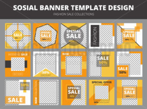 Social media sale posts and banners design - Vector illustrations for everyone | Microstocker.Pro