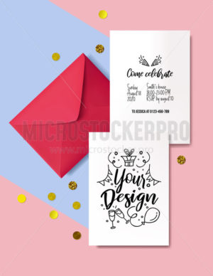 Template for decorative invitation cards - Vector illustrations for everyone | Microstocker.Pro