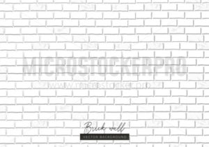 White brick wall endless texture background - Vector illustrations for everyone | Microstocker.Pro