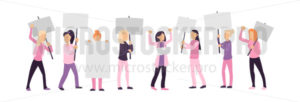 Women empowerment protest isolated on white - Vector illustrations for everyone | Microstocker.Pro