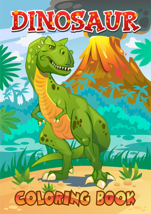 Dinosaur Coloring Book Cover