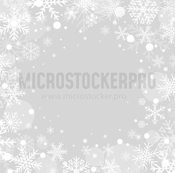 Beautiful fluffy snowflakes flying in air - Vector illustrations for everyone | Microstocker.Pro