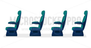 Empty seats for public transport on white background concept - Vector illustrations for everyone | Microstocker.Pro
