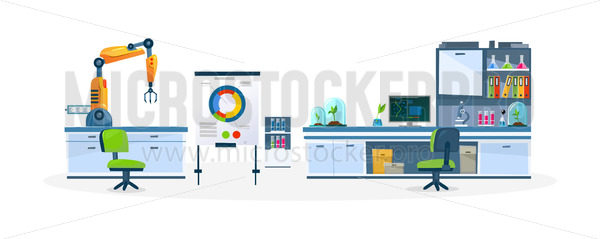 Laboratory with modern equipment and technology - Vector illustrations for everyone | Microstocker.Pro