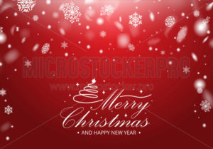 Merry christmas greeting card with snowflakes - Vector illustrations for everyone | Microstocker.Pro