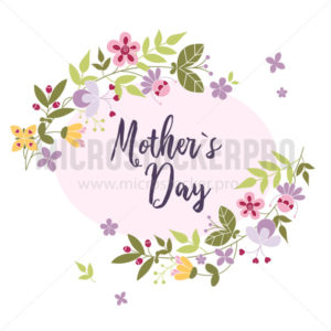 Mothers day greeting card with bright decoration - Vector illustrations for everyone | Microstocker.Pro