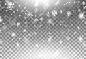 Realistic beautiful winter snowflakes falling down - Vector illustrations for everyone | Microstocker.Pro
