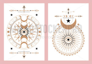 Set of abstract cards with unique design - Vector illustrations for everyone | Microstocker.Pro