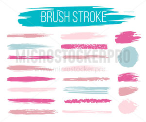 Set of brush strokes in different sizes and shapes - Vector illustrations for everyone | Microstocker.Pro
