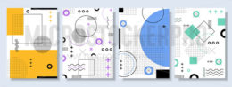 Set of colourful abstract geometric banners