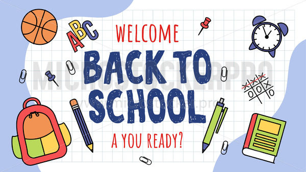 Welcome back to school banner template - Vector illustrations for everyone | Microstocker.Pro